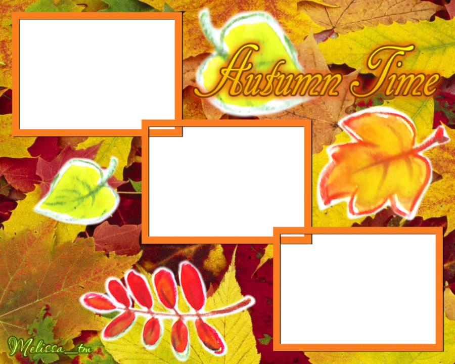Time frame png by. Clipart frames autumn