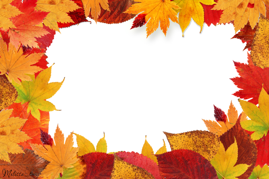Fall leaves border png. Frame autumn by melissa