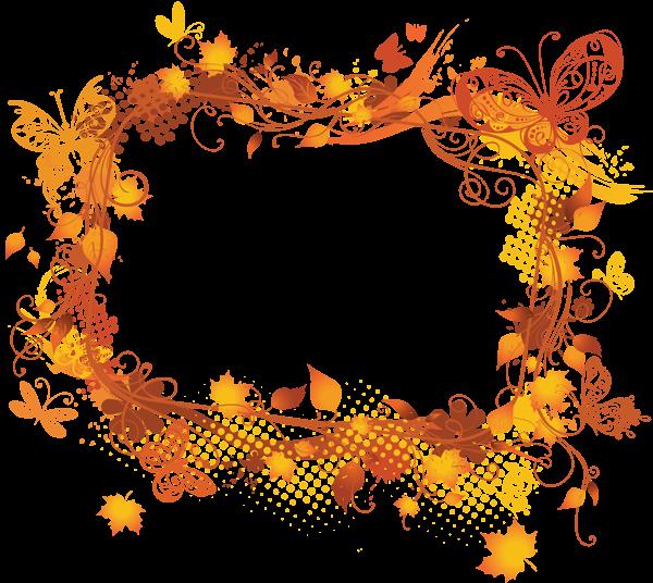 Design clipart autumn. Fall vector frame pinterest