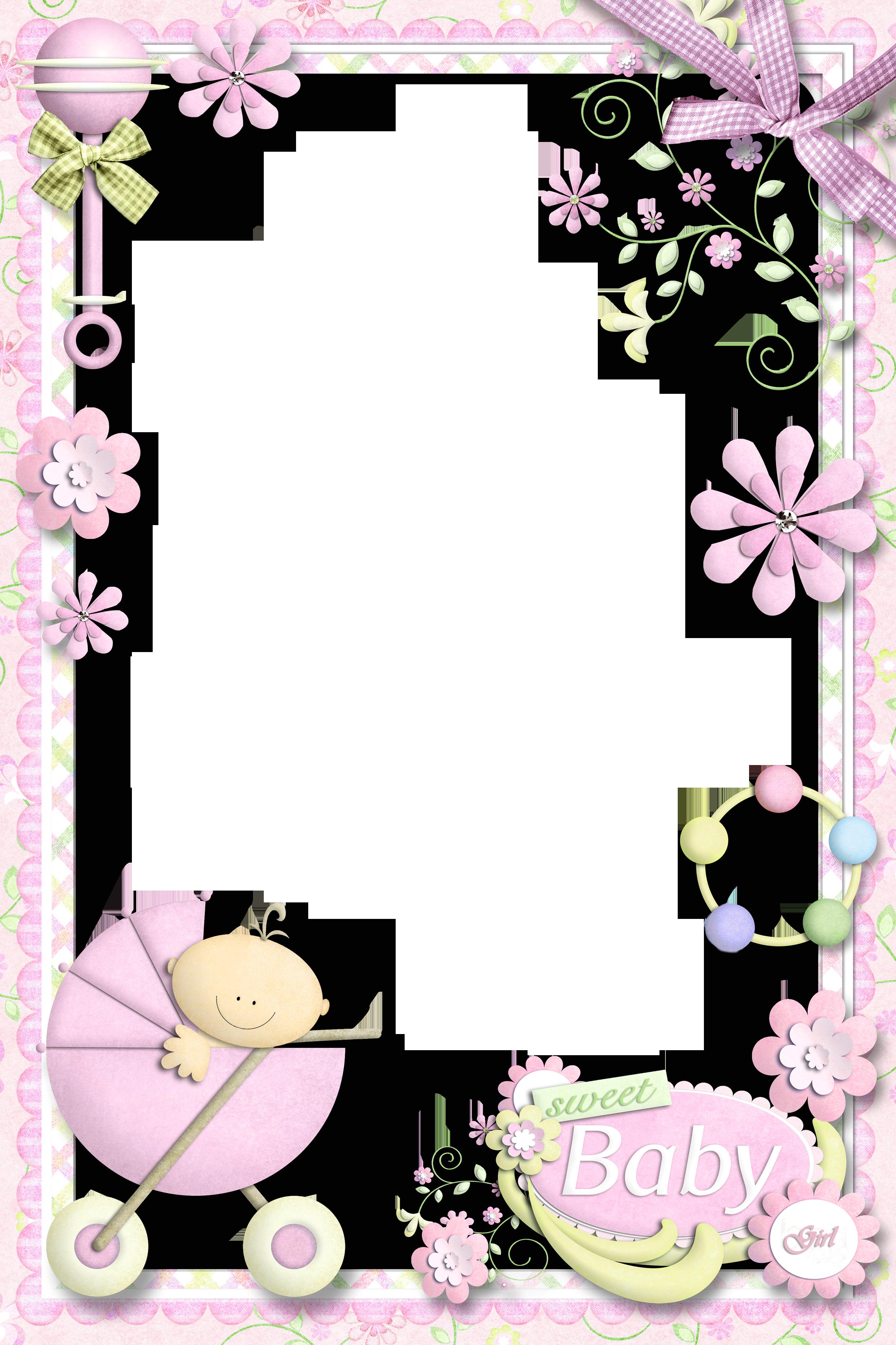 Handprint clipart baby girl. Photo frame for frames