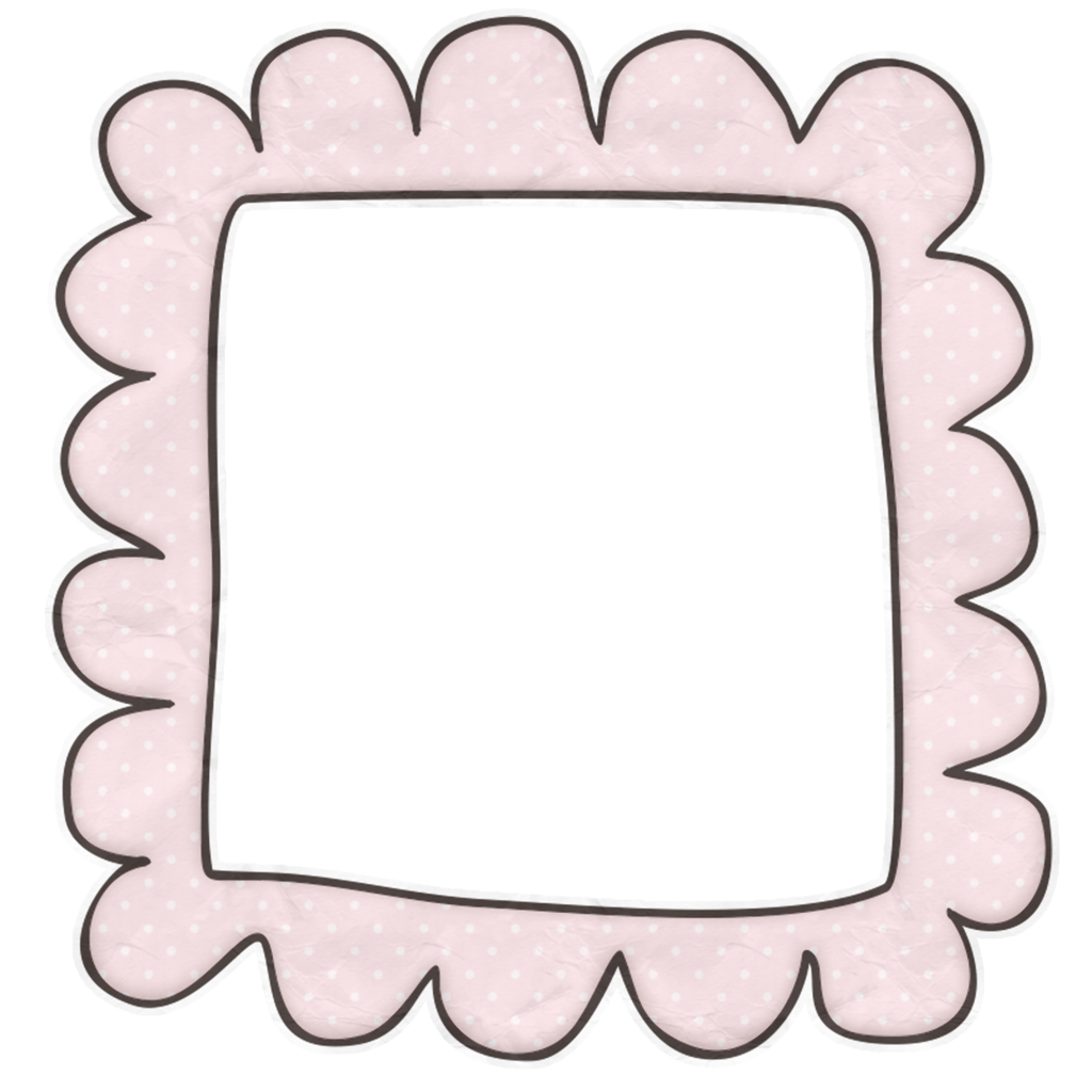 Scrap and album. Clipart frame baby girl