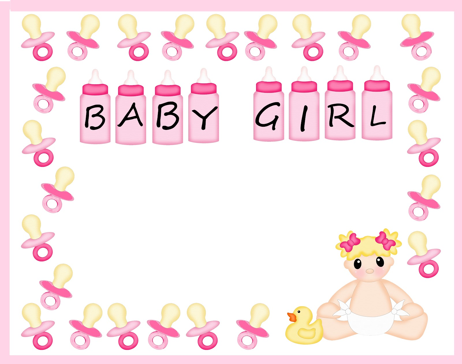 Free border cliparts download. Clipart frame baby girl