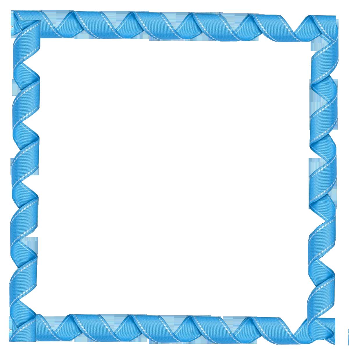 clipart frame blue