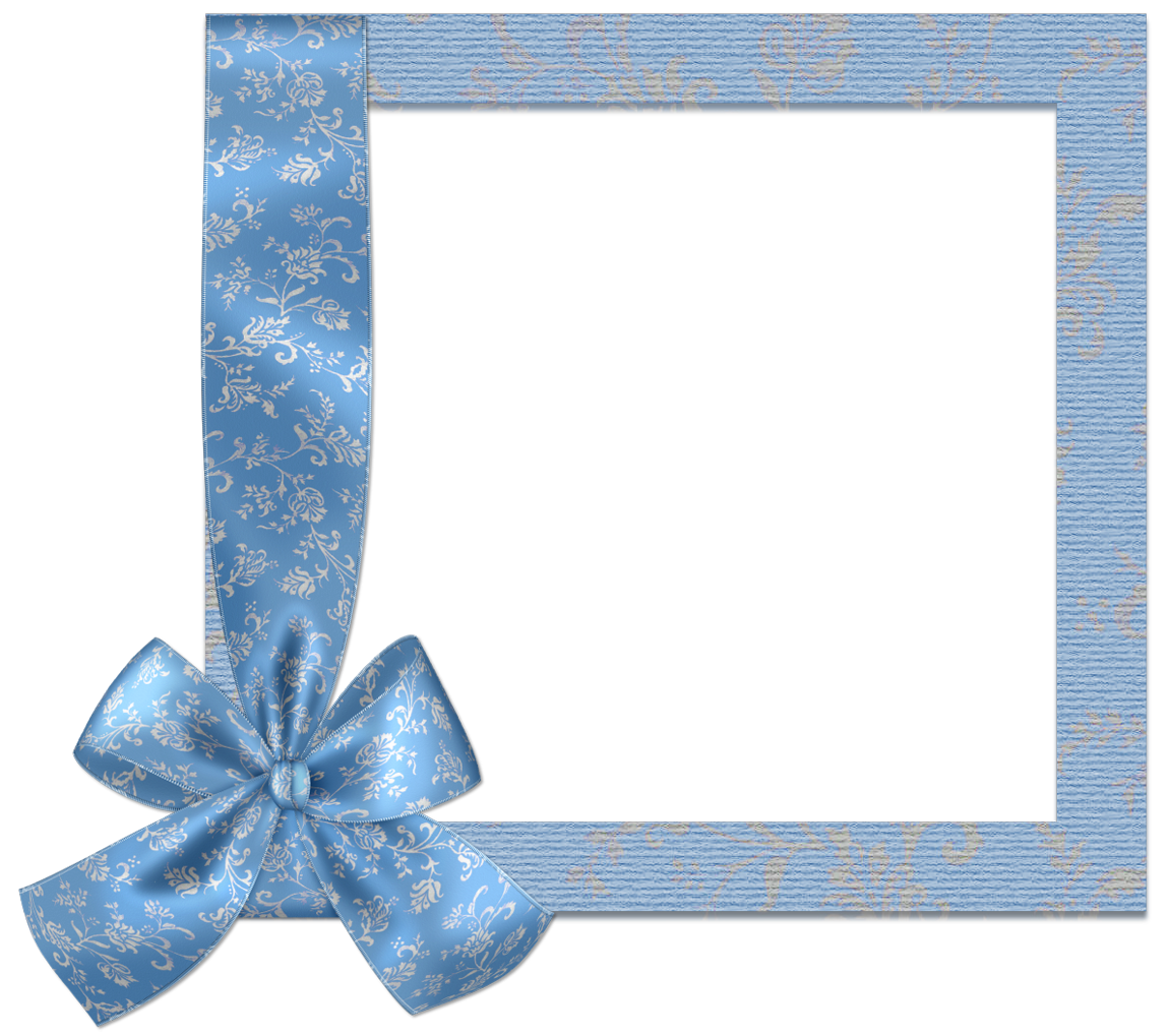 Blue frame png. Cute with bow gallery
