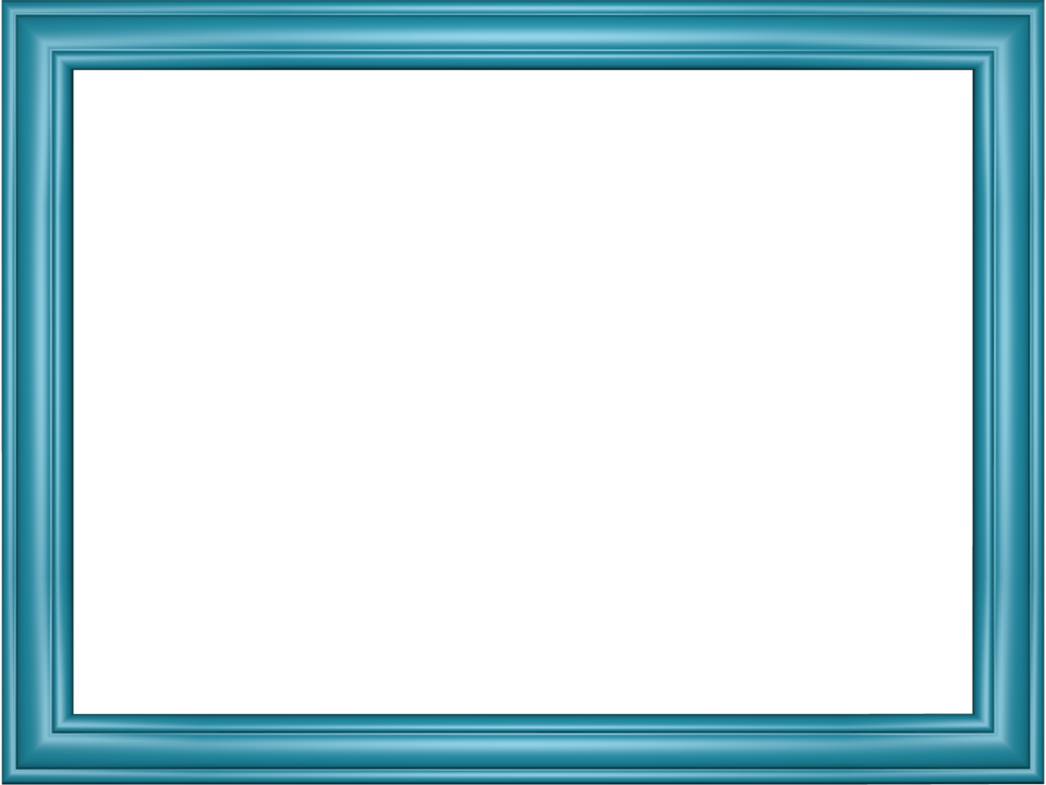 Blue frame png. Light borders acur lunamedia