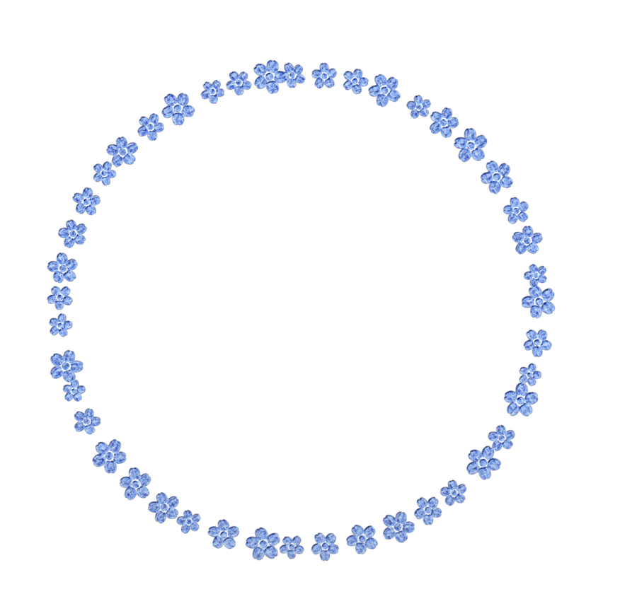 Tender flowers png by. Clipart frame blue flower