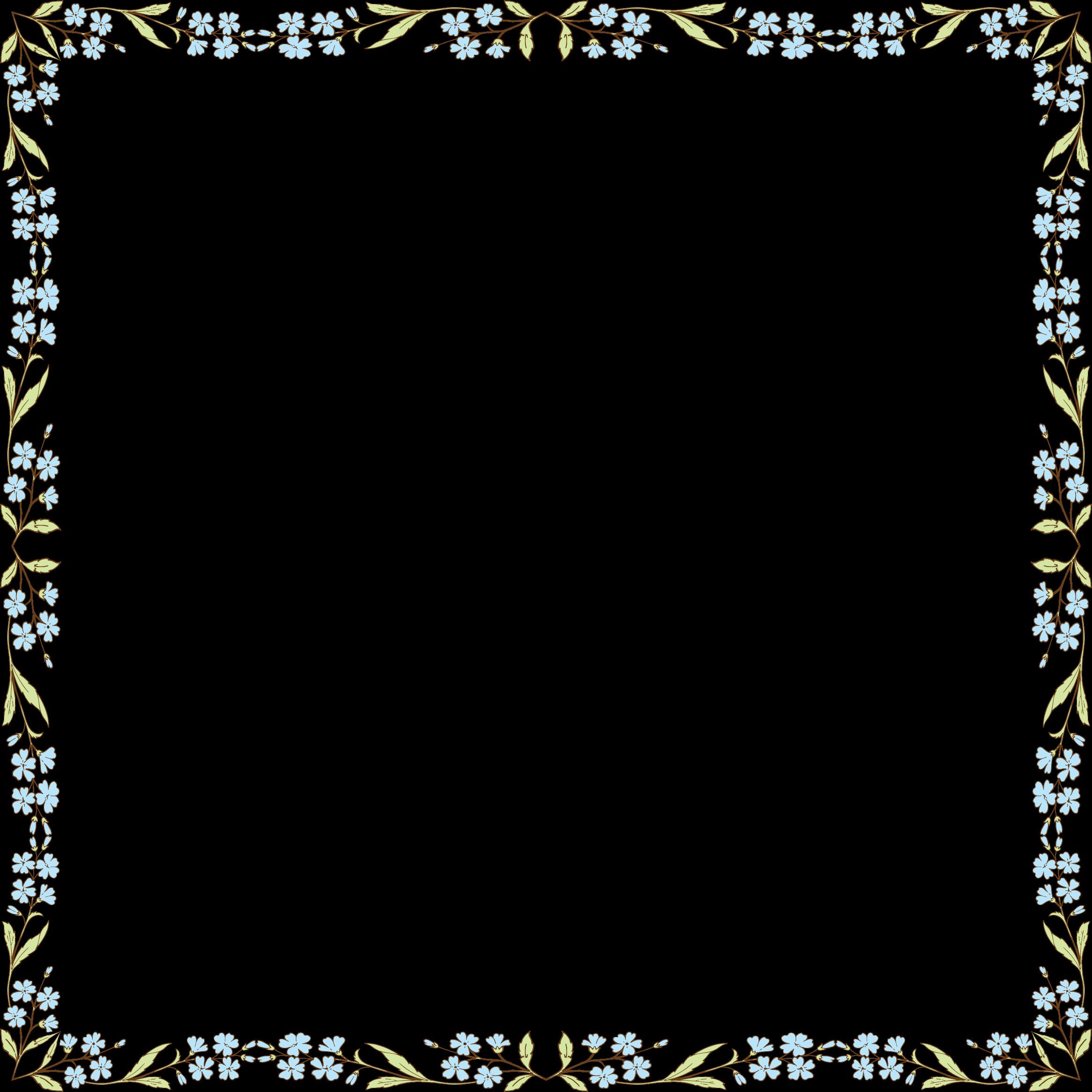 Clipart frame blue flower. Flowers big image png