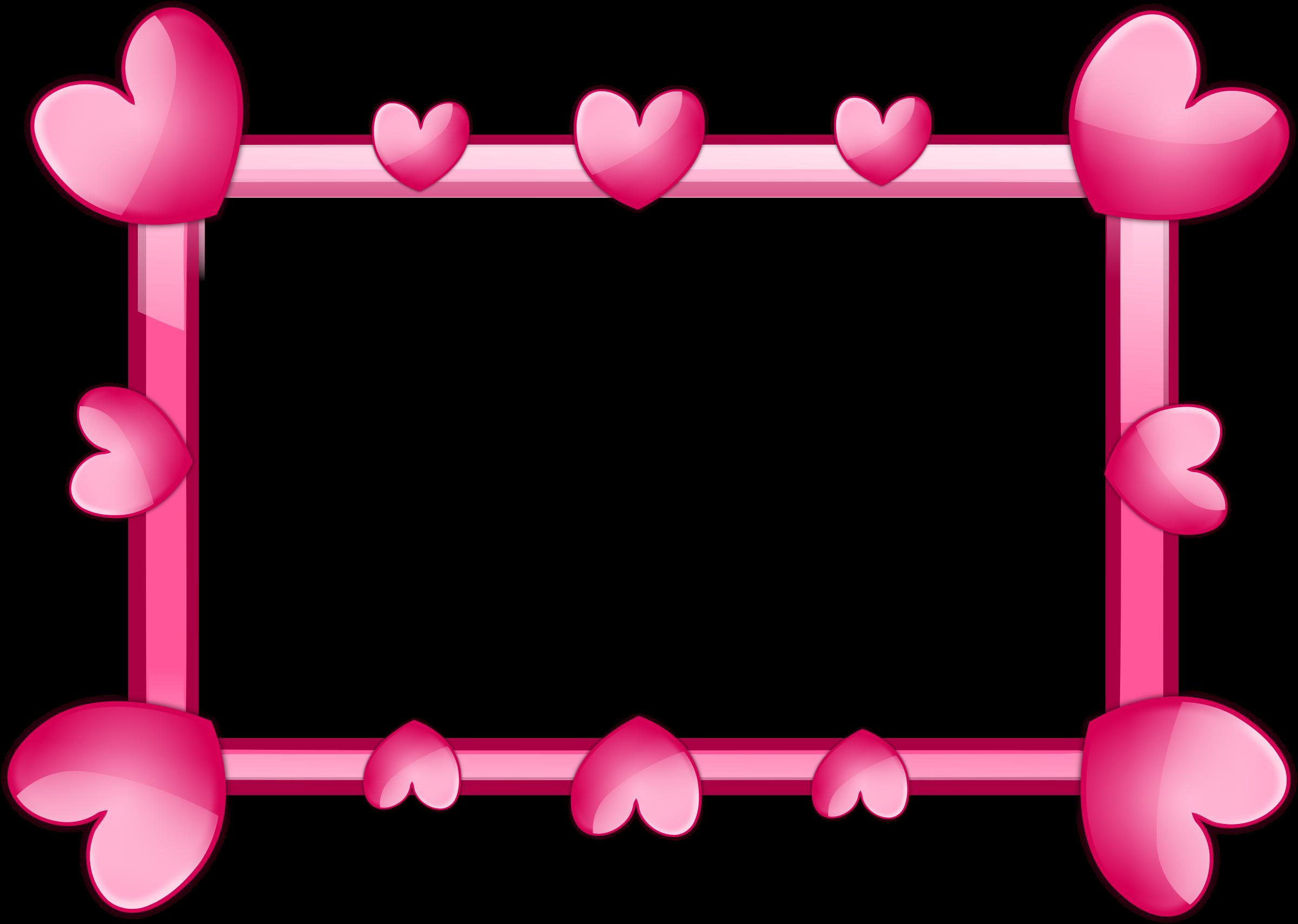 Frames clipart cartoon. Pink frame big image
