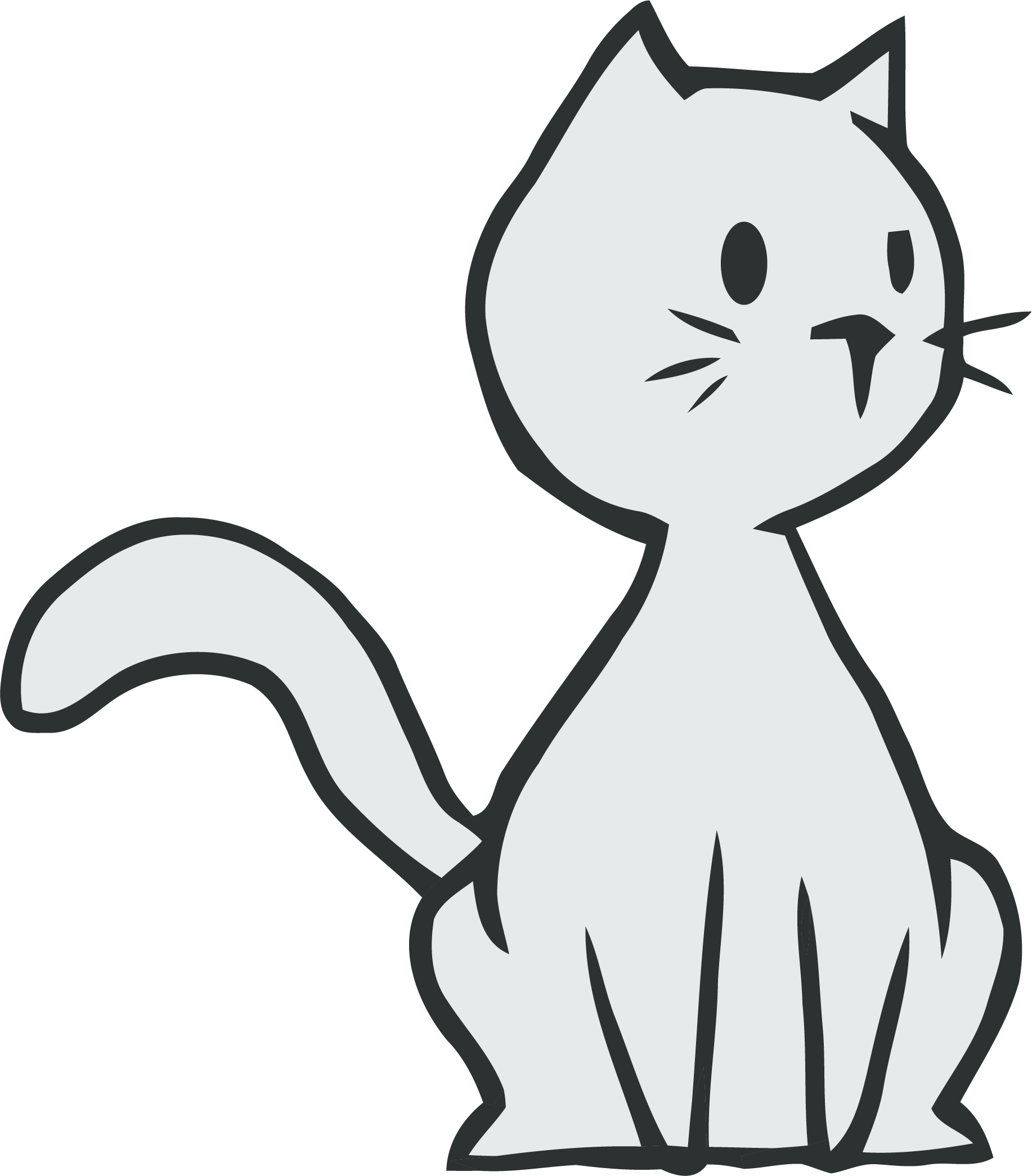 Kitty clipart realistic. Thinking cat png clipartly