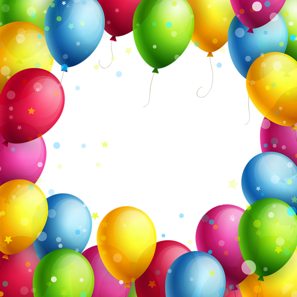 Transparent balloons png happy. Clipart frame celebration