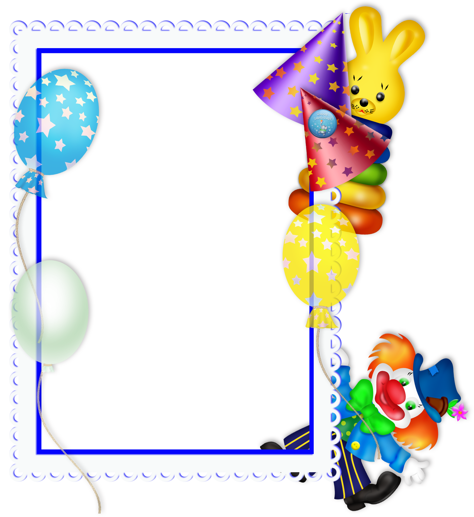 Clipart frame celebration. Happy birthday transparent png