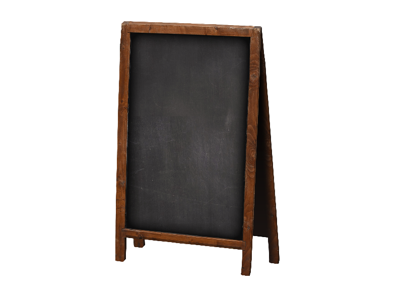 Chalkboard frame png. Wood sign isolated objects