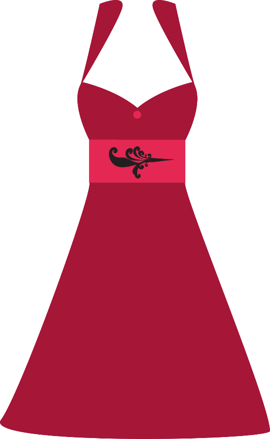 Costura e roupas riblackandreddress. Clothing clipart closet full clothes
