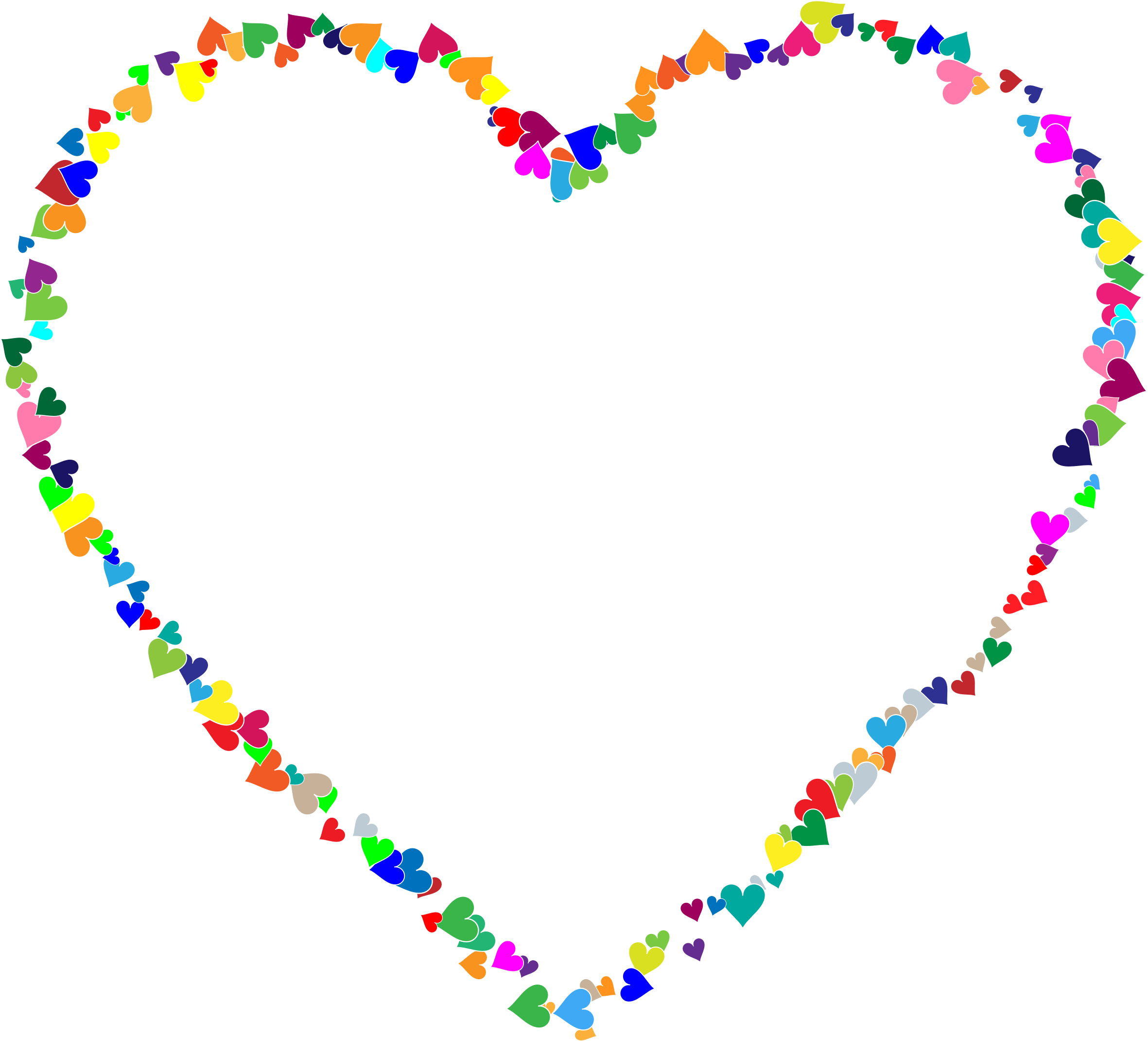 Colorful big image png. Clipart hearts frame
