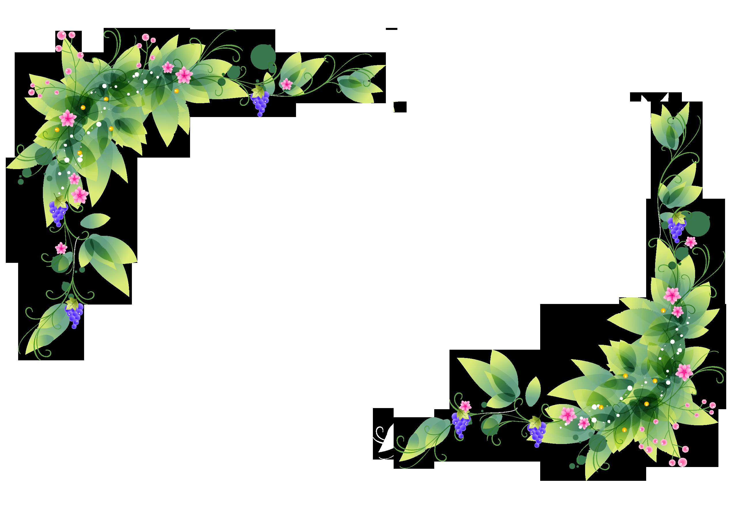 Decoration clipart paper. Corner floral png image