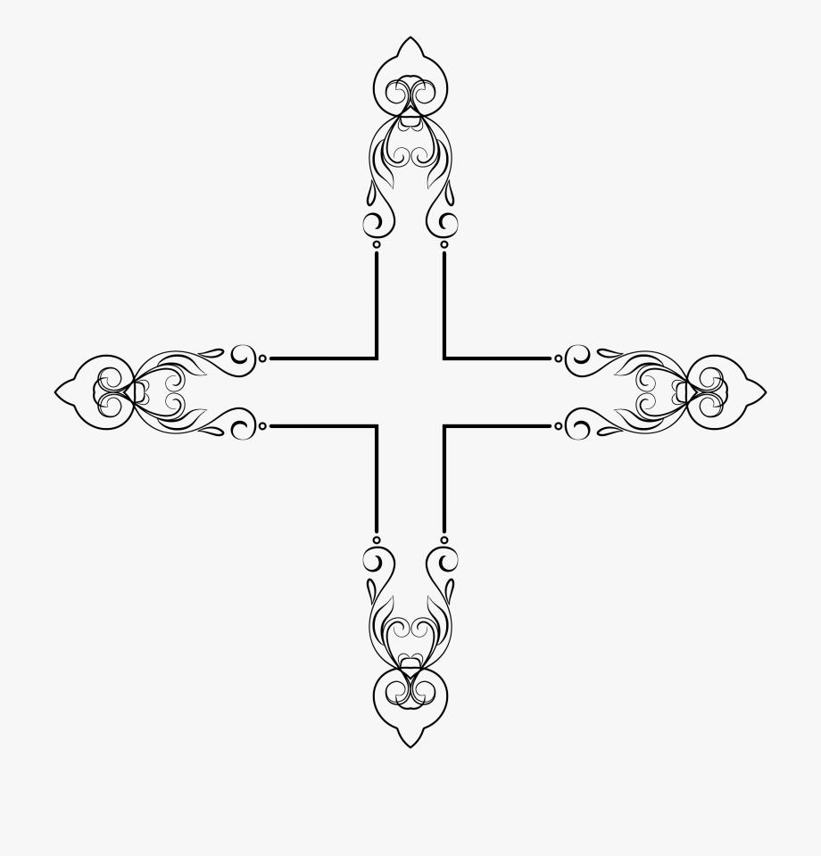 Elegant frame . Flourish clipart cross