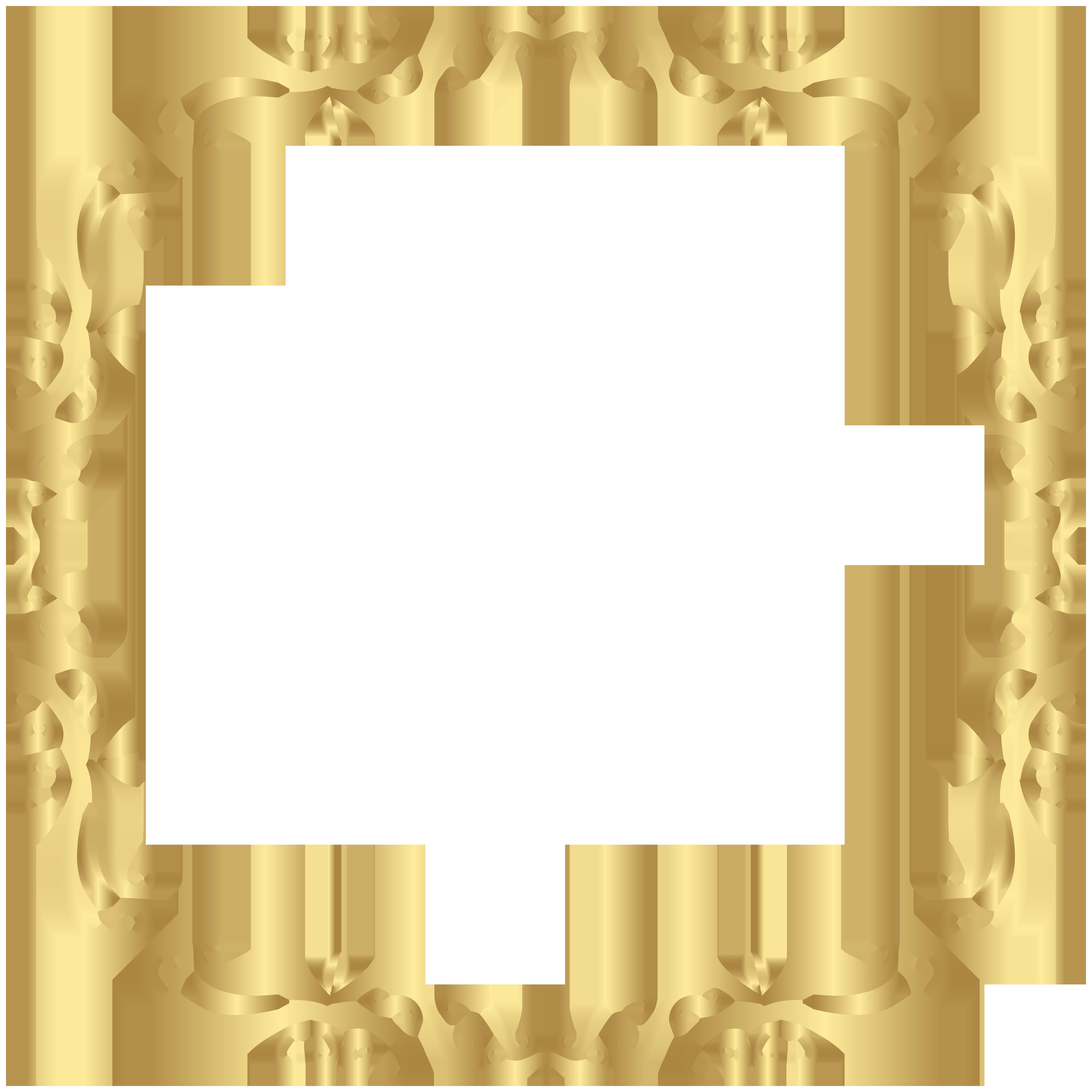 Decorative frame png. Border decor clip art