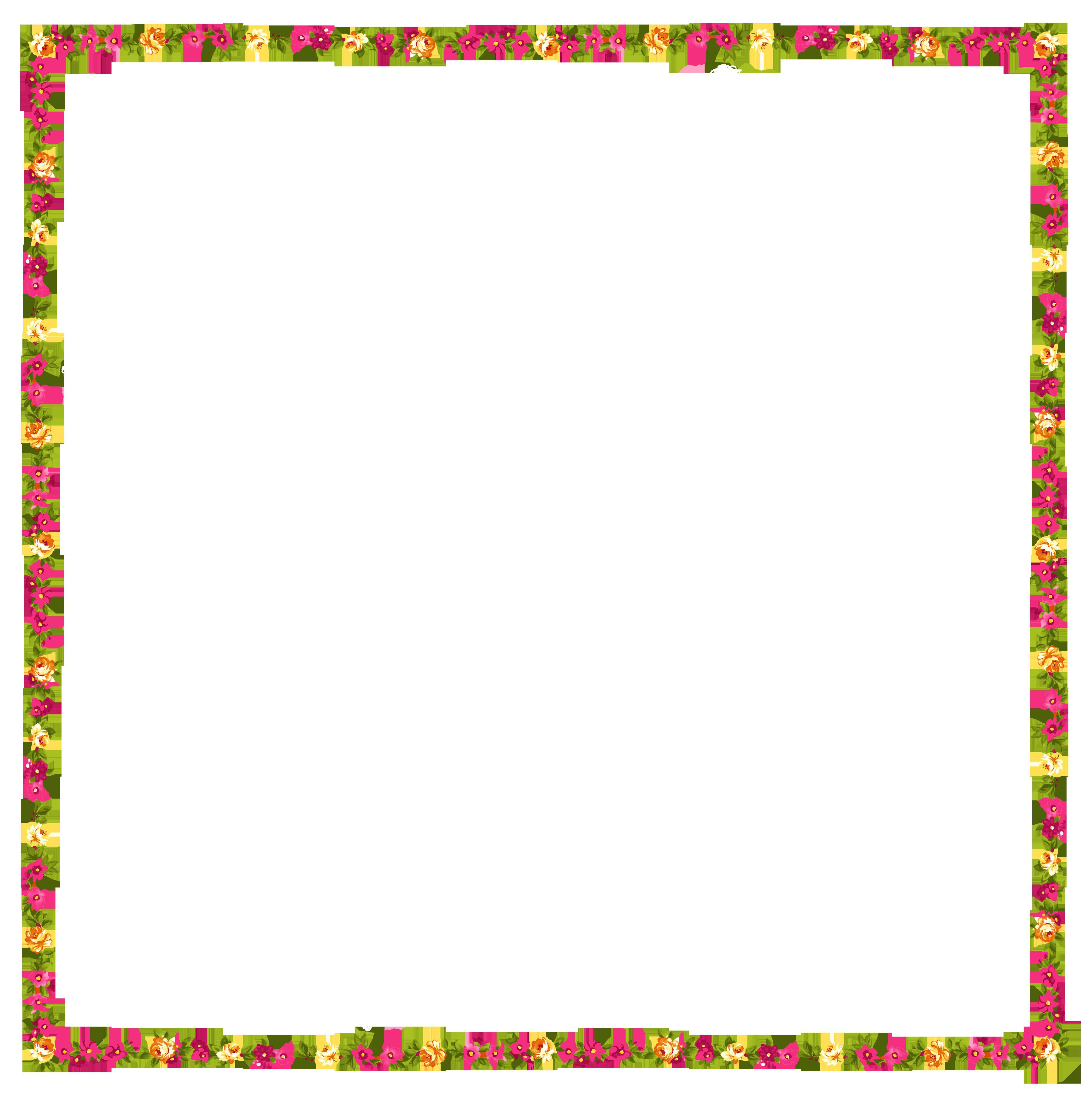 Transparent floral frame decor. Clipart frames flower