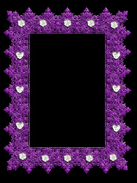 Transparent purple with . Diamond clipart frame