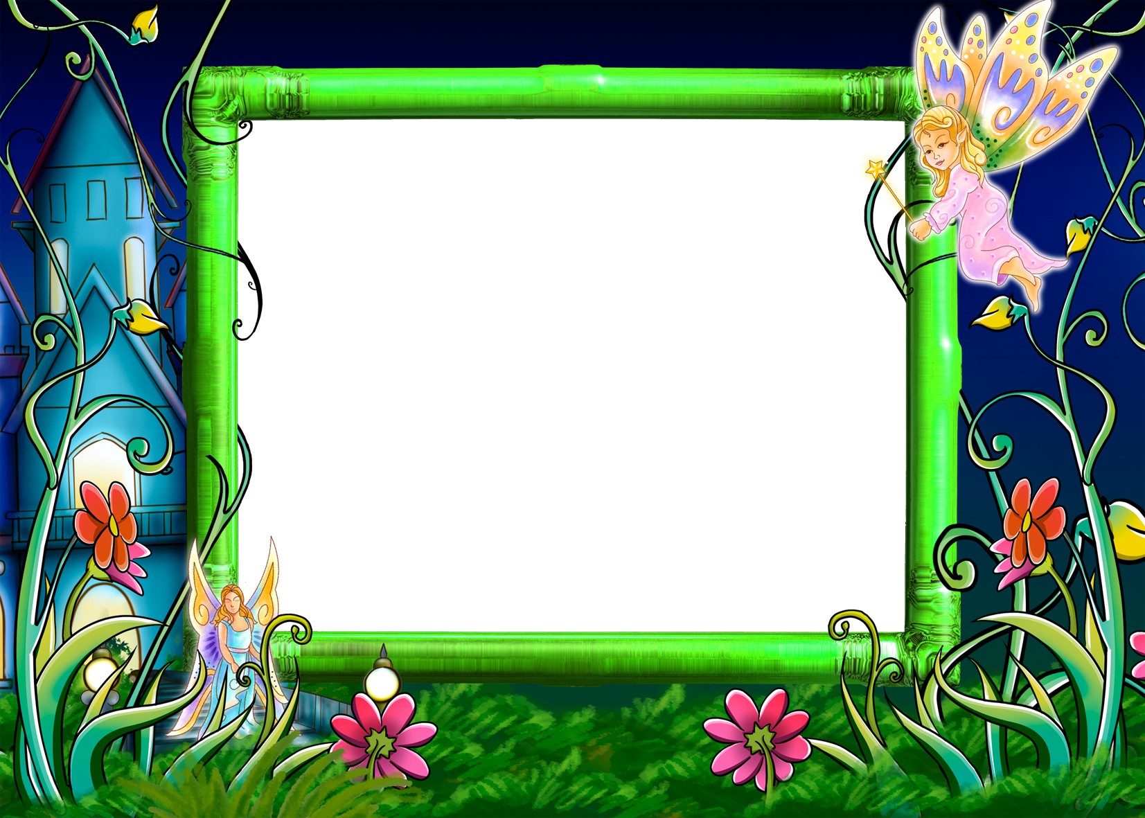 fairies clipart frame