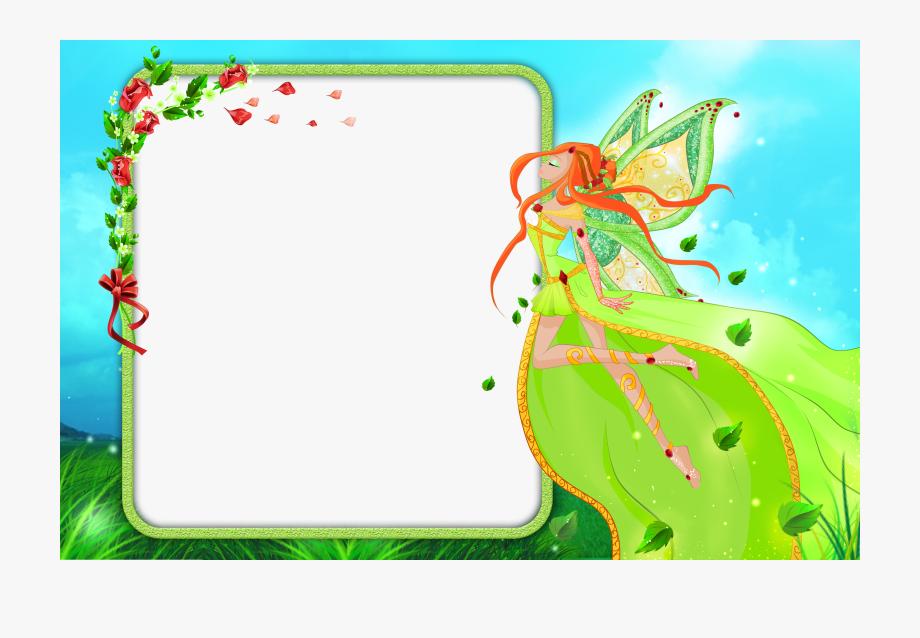Fairies clipart frame. Fairy heart frames for