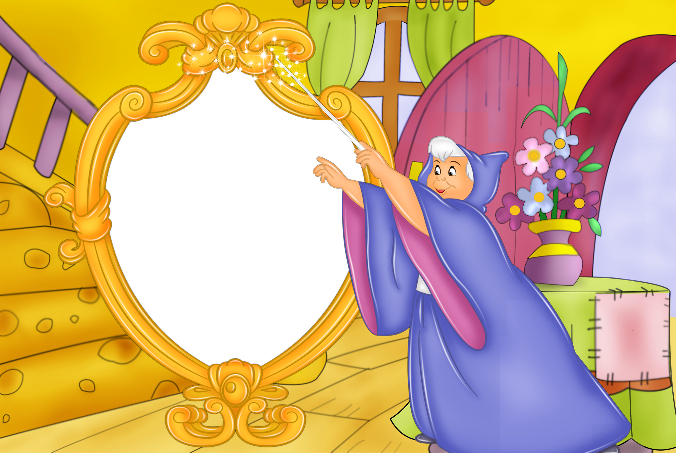 Kids godmother transparent gallery. Fairy clipart frame