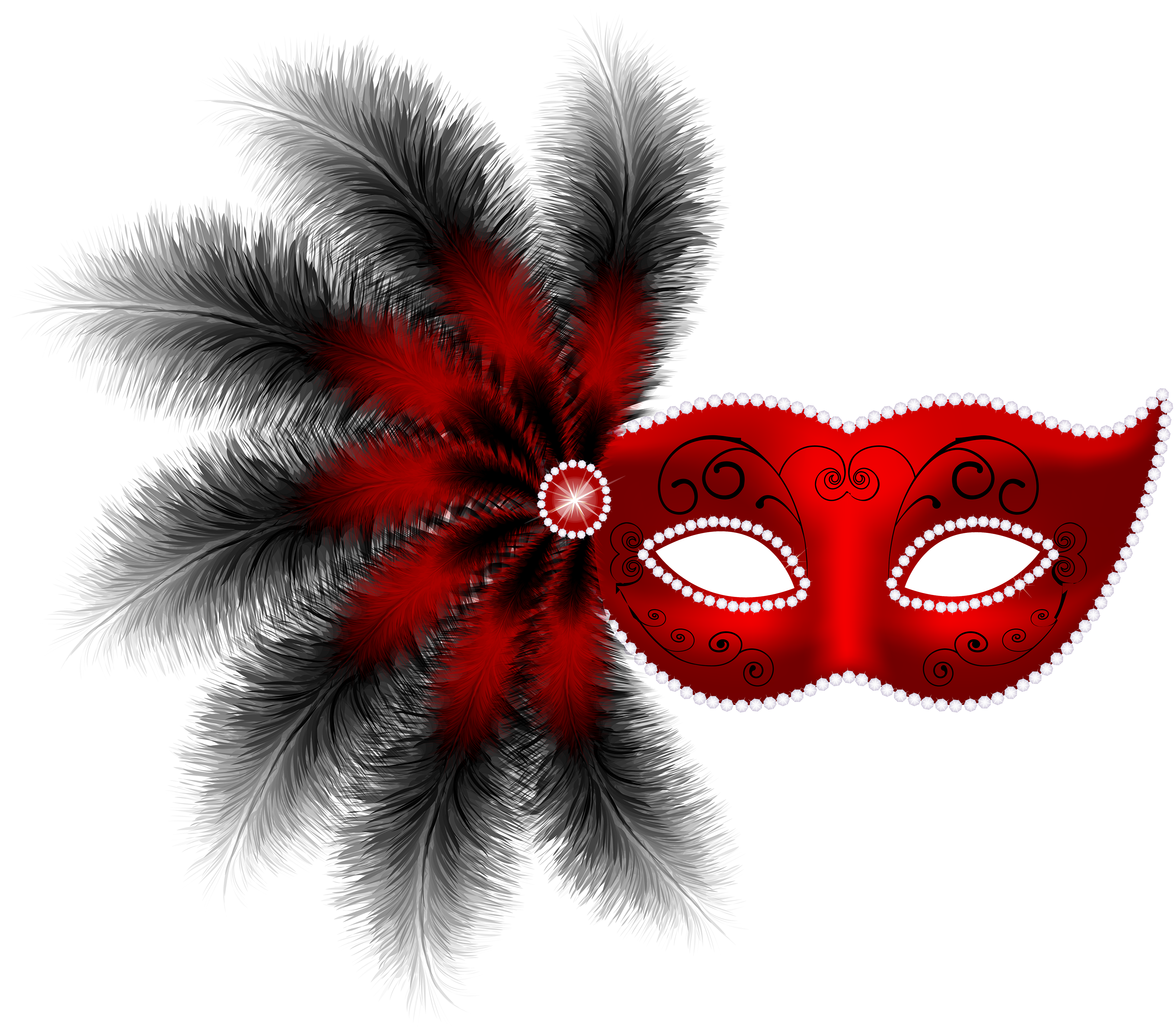 Carnival mask png clip. Clipart frame feather