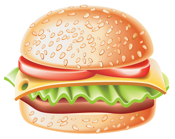Clipart frame food. Hamburger png gallery yopriceville