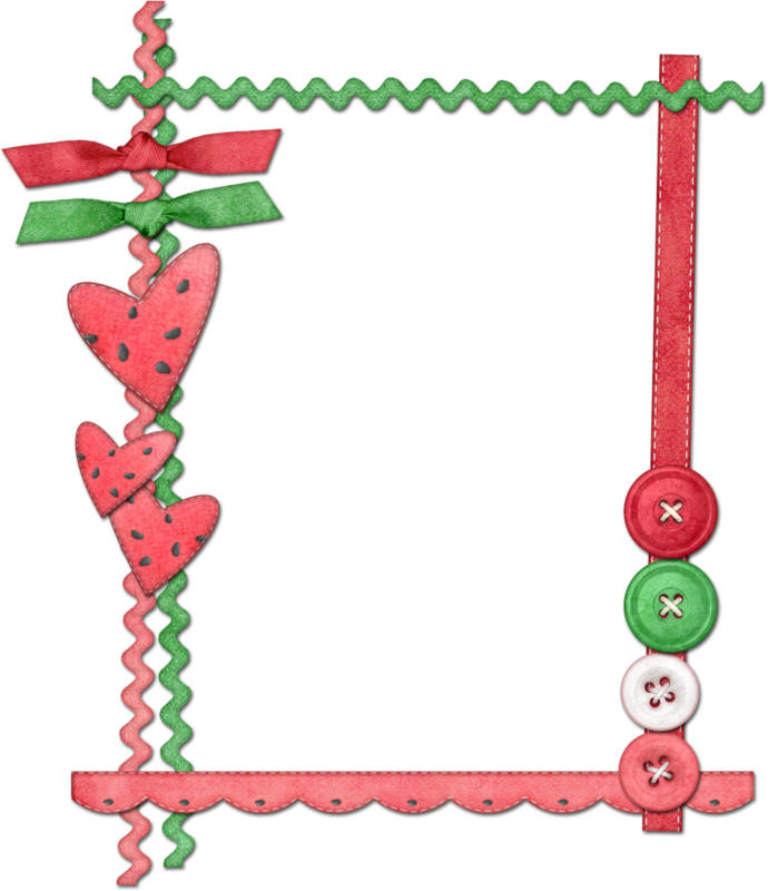 Watermelon clipart frame. Lil png clip art