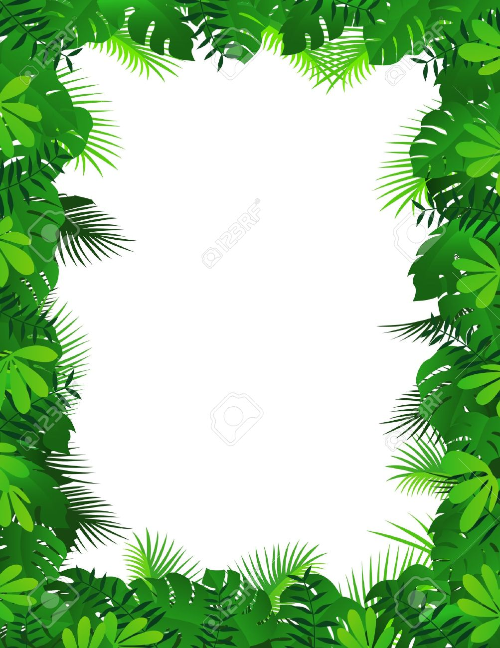 Cliparts making the web. Frame clipart forest