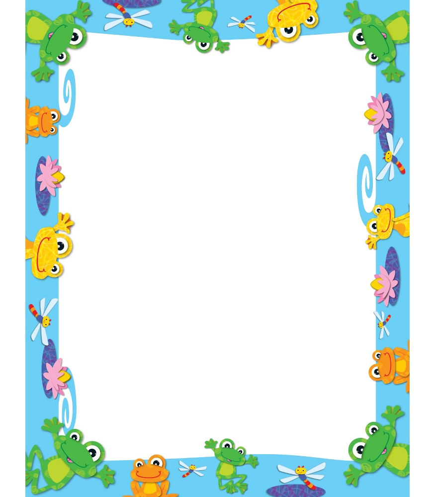 Free frog border cliparts. Frogs clipart borders