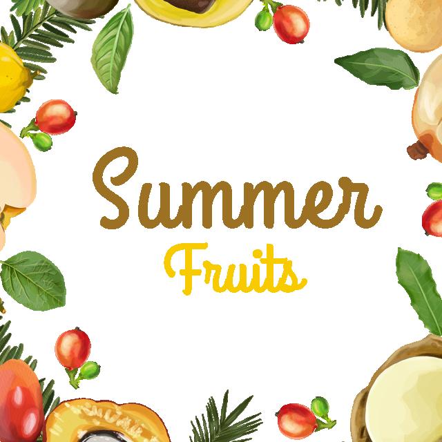 Clipart fruit frame. Summer fruits floral png