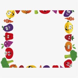 Border fruits and vegetables. Clipart fruit frame