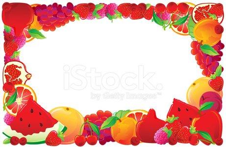 Red premium clipartlogo com. Fruit clipart frame