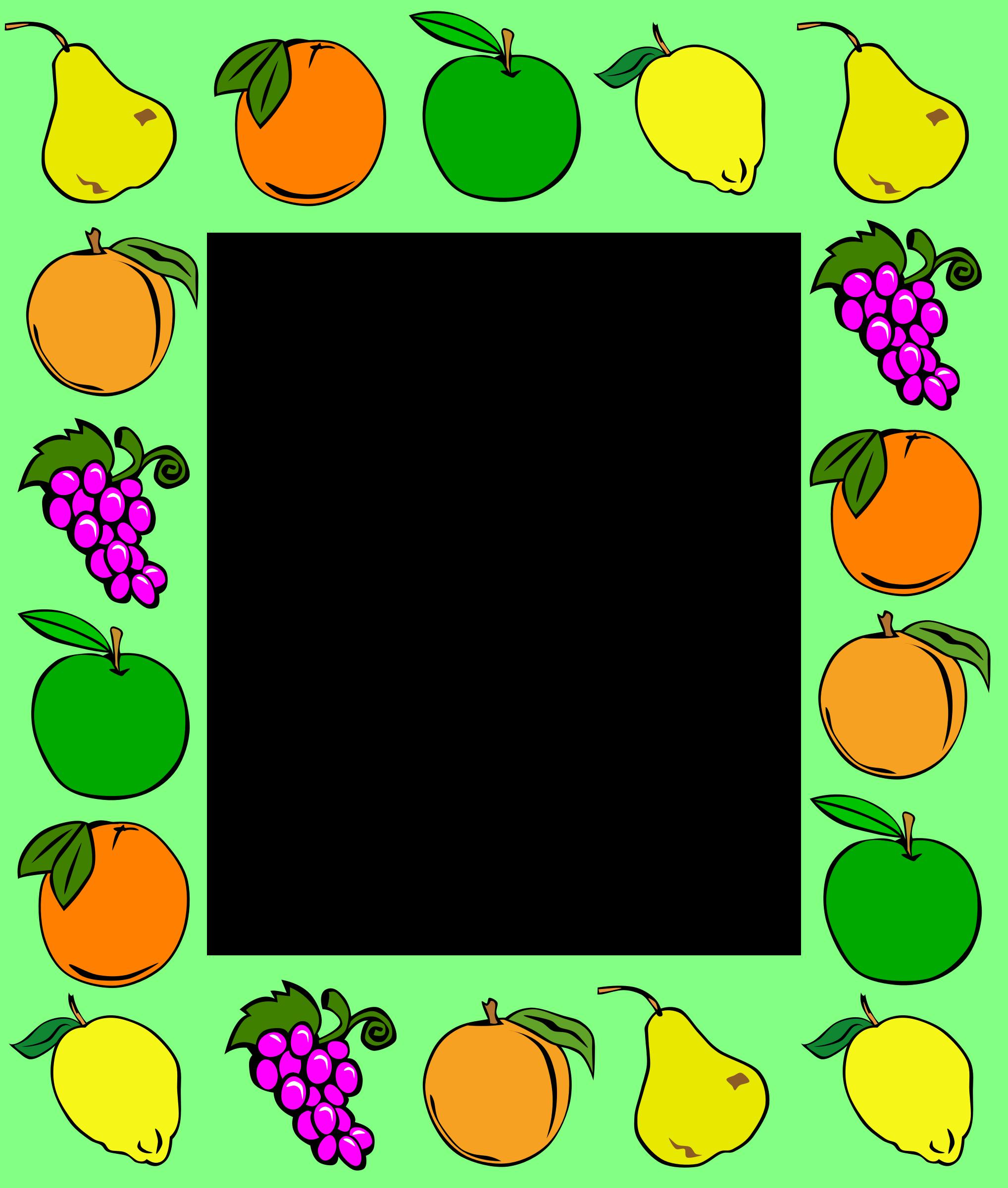 Big image png. Clipart fruit frame