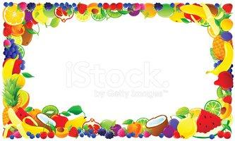 Clipart fruit frame. Colorful stock vectors me