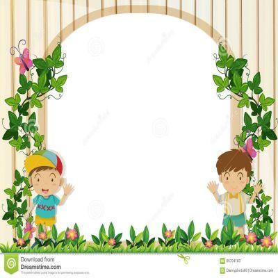 Frame clipart garden. Border design inspiration