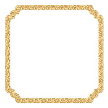 square. Clipart frames gold glitter