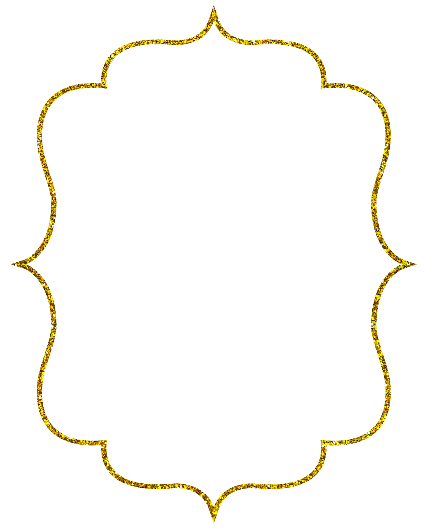 Clipart frames glitter.  collection of gold