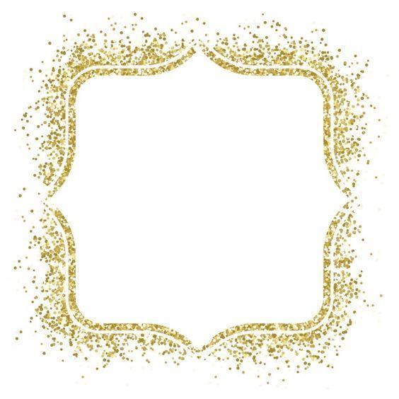 Pin by shaheen perwaz. Clipart frames gold glitter