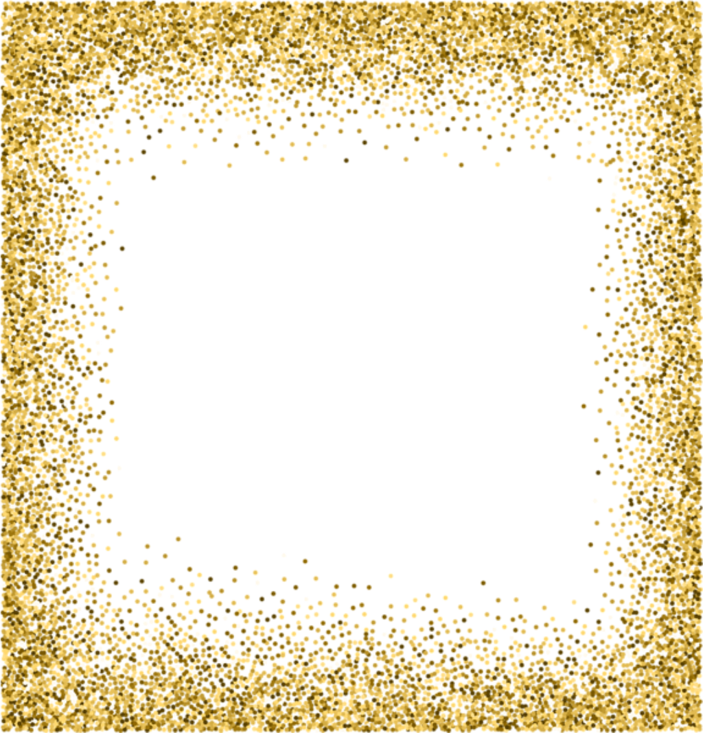 Square sticker by florin. Gold glitter frame png