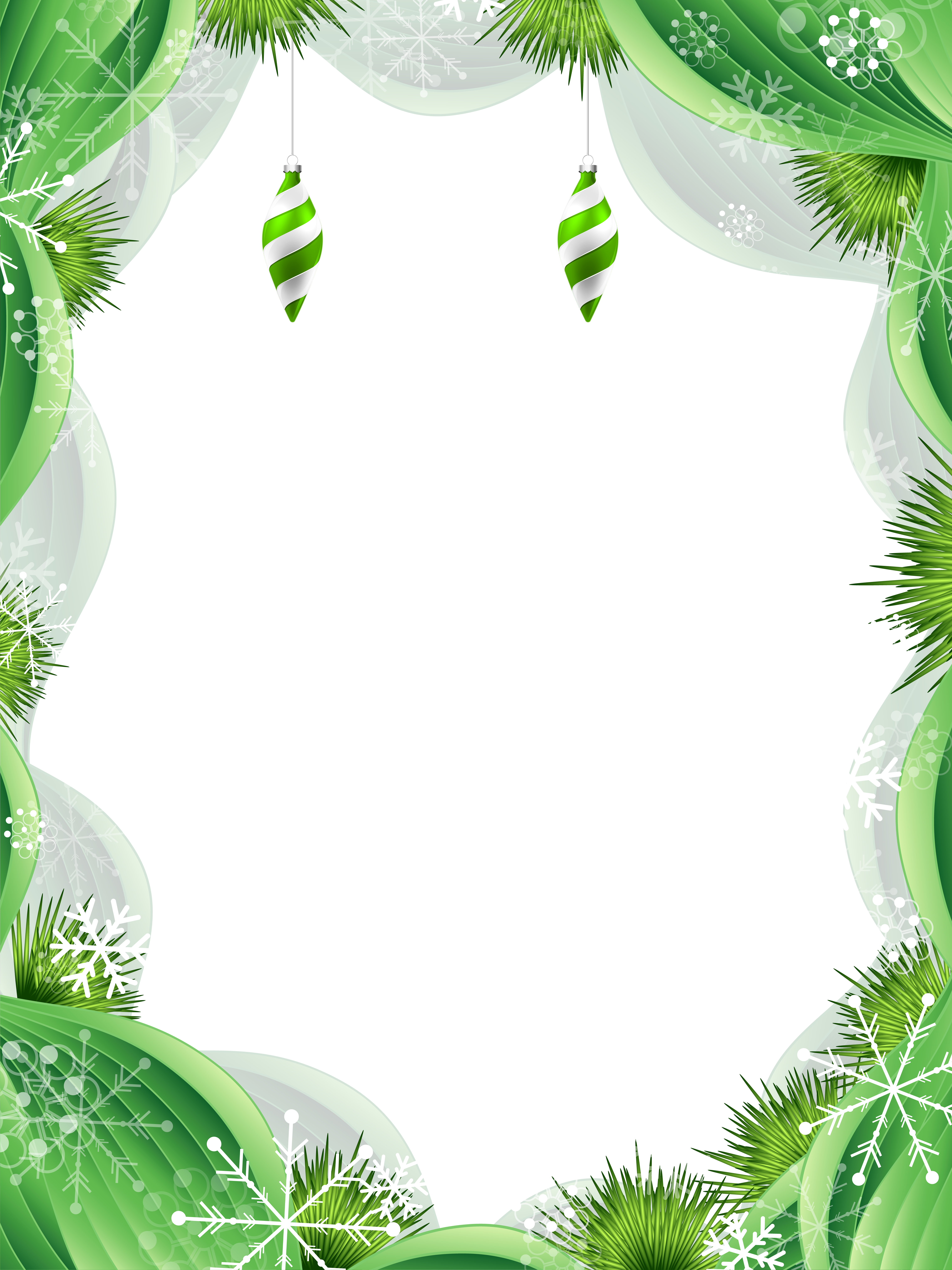 Green frame png. Christmas clipart image gallery