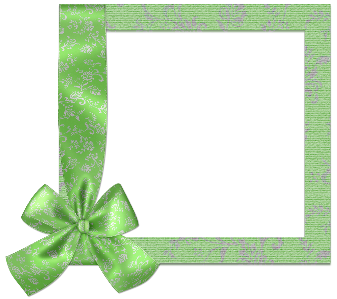 Green frame png. Cute with bow gallery