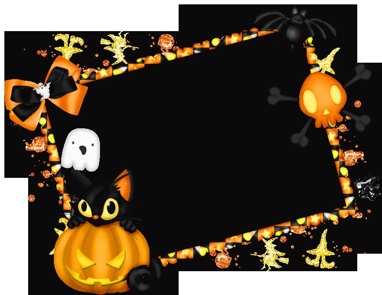 Clipart halloween window. Frame clip art holiday