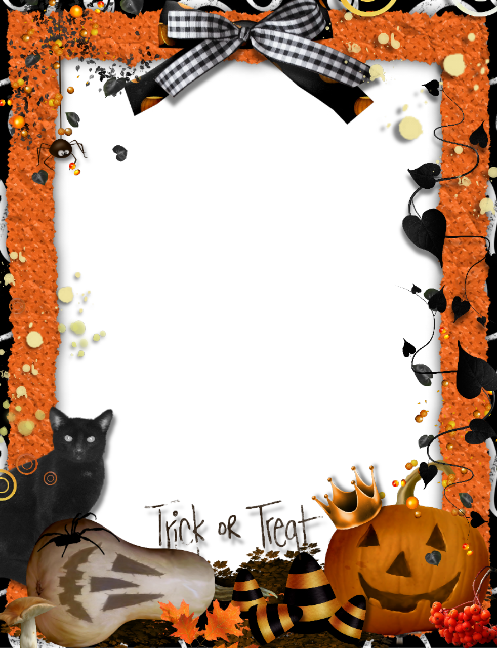 Halloween border png. Frames and borders trick