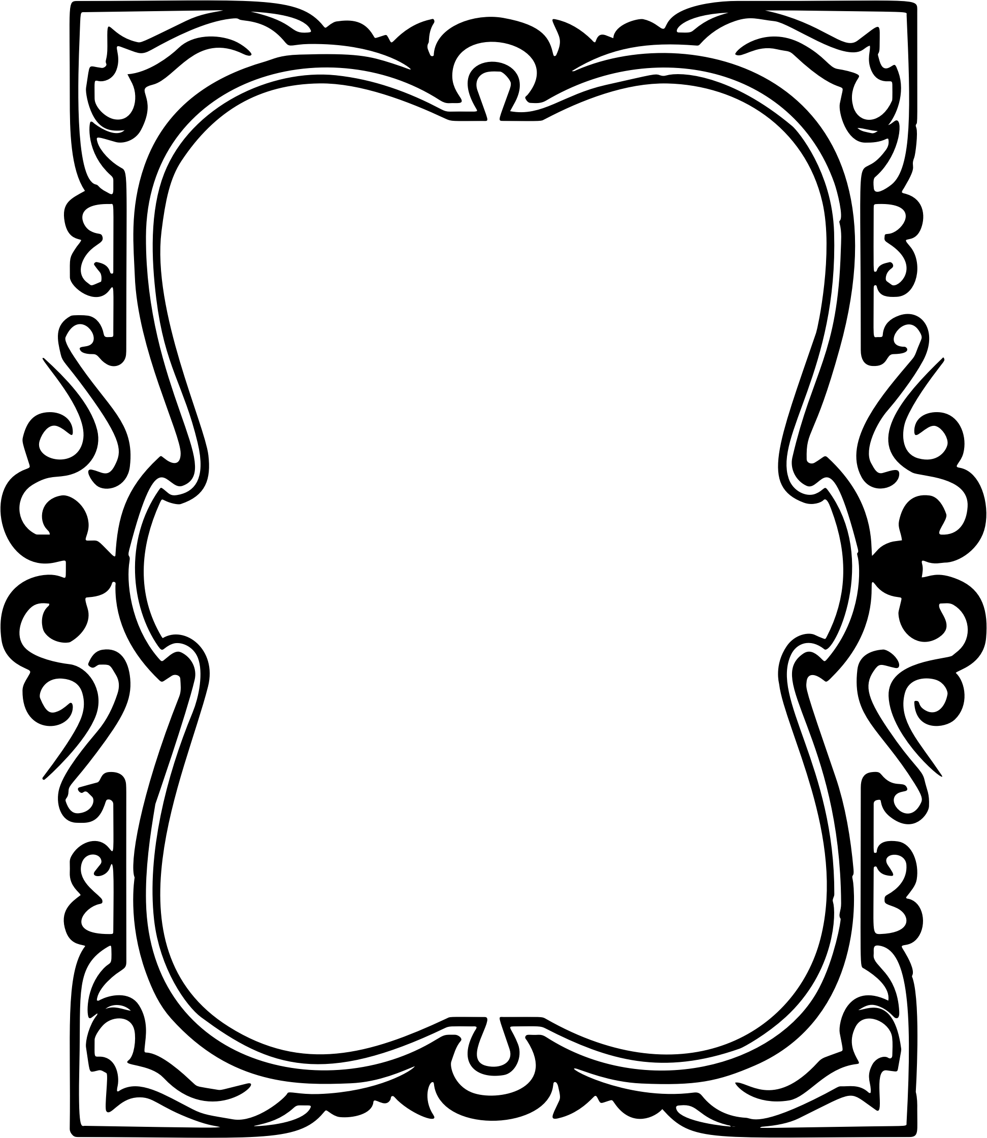 Clipart frame hand. Drawn ornamental big image