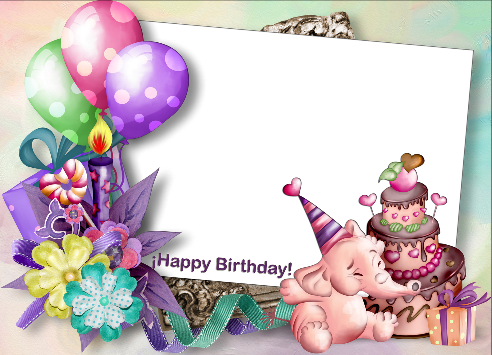 Clipart frame happy birthday. Templates cliparts and more