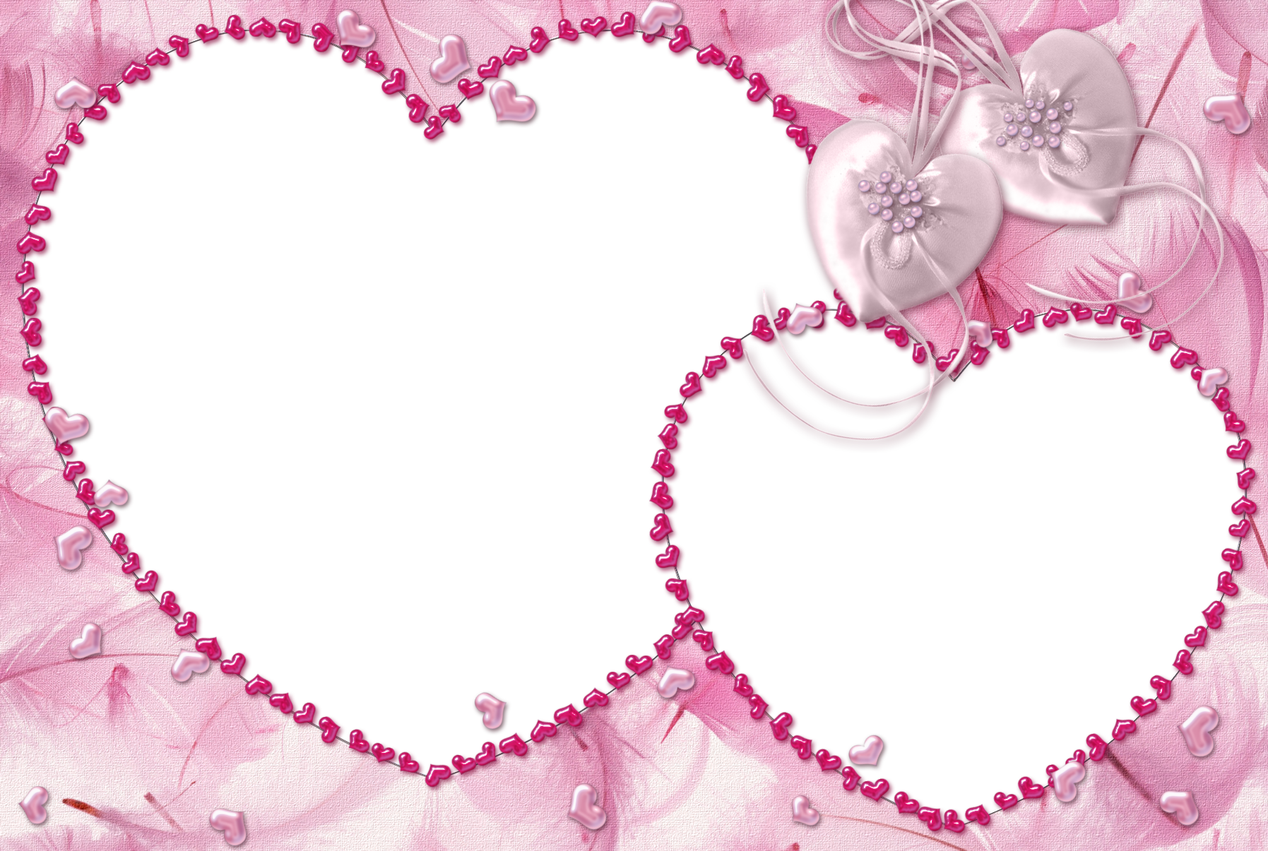 Clipart hearts frame. Pink heart transparent gallery