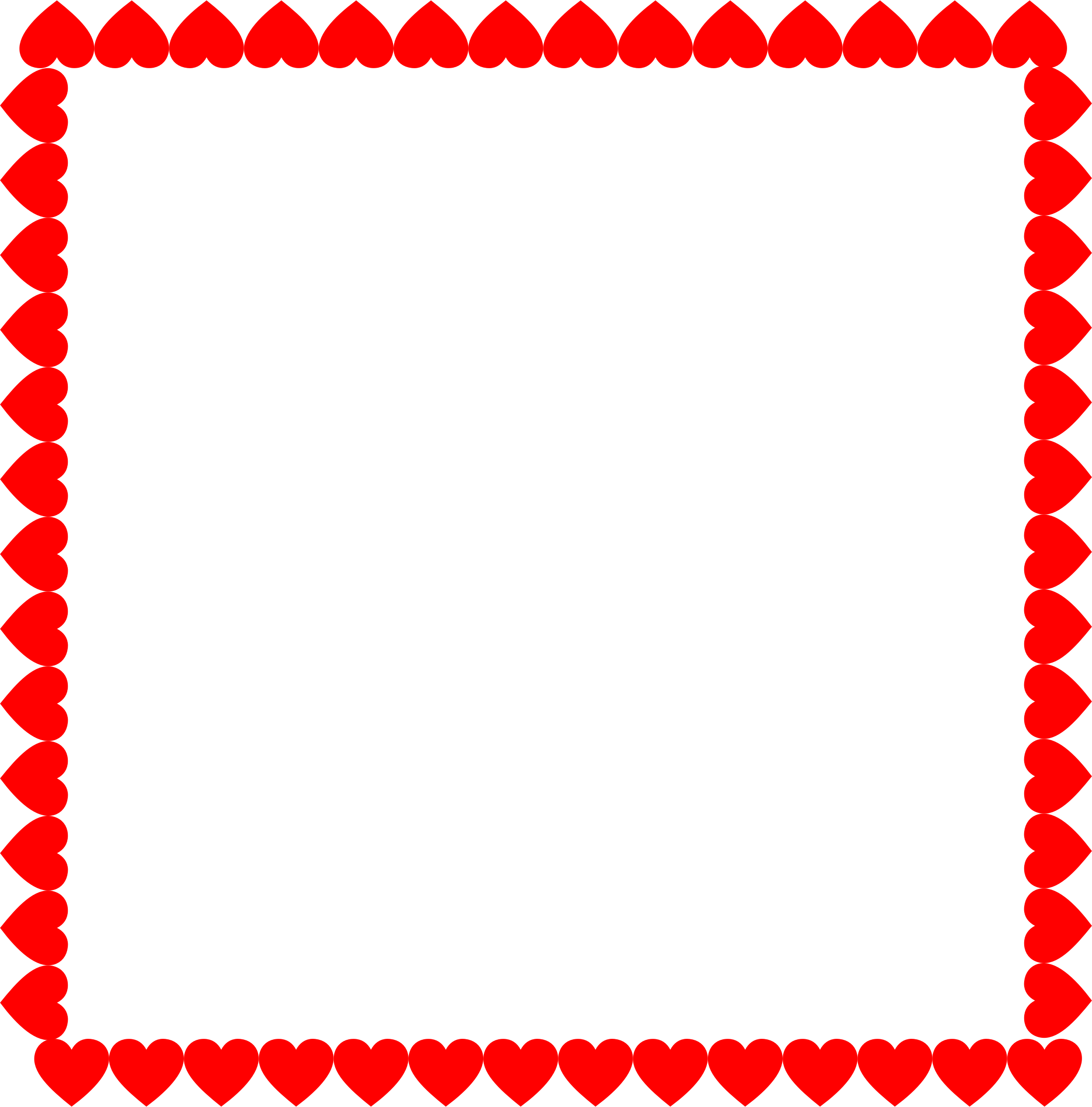 clipart hearts frame