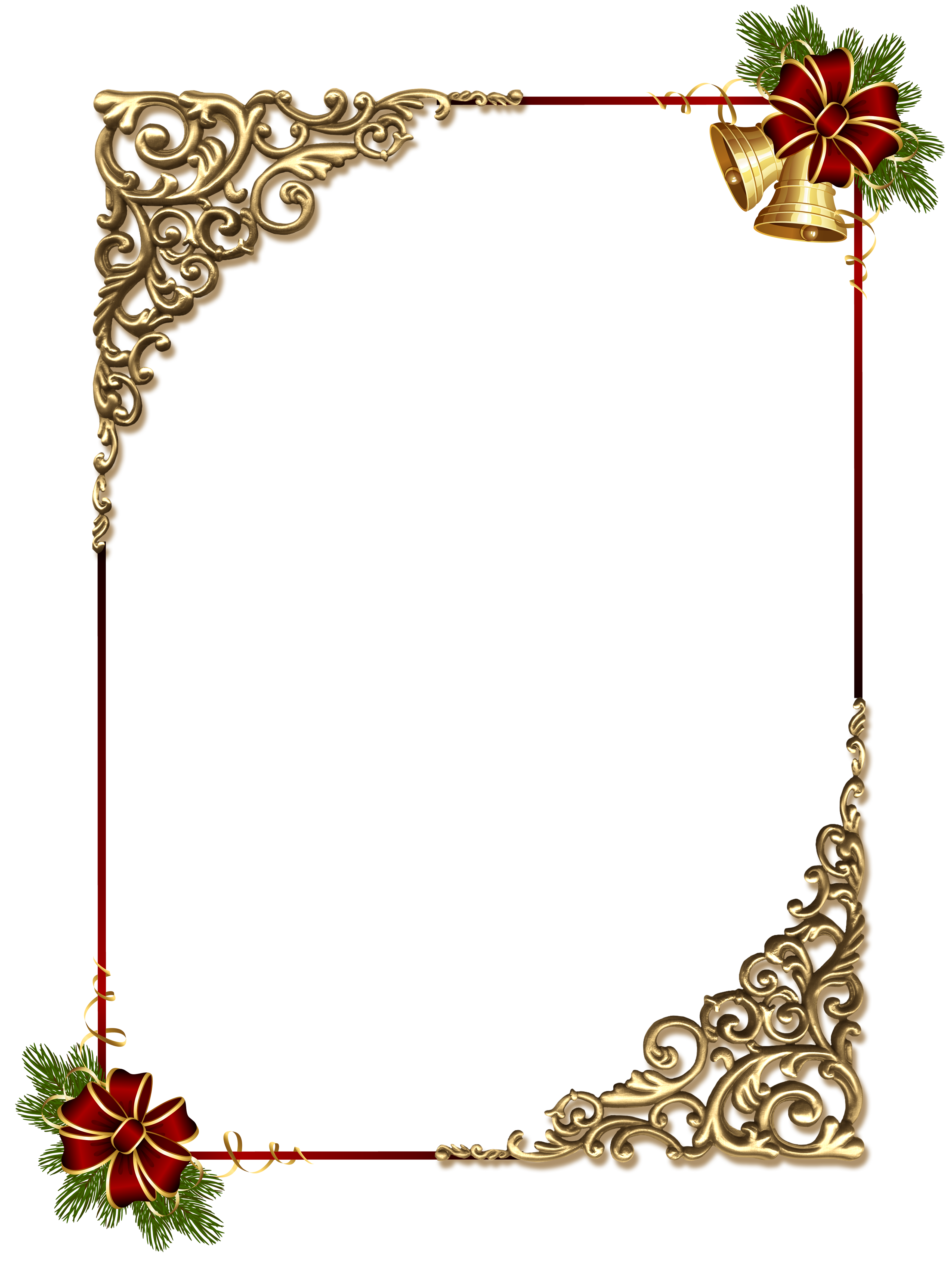 Christmas gold png photo. Holiday clipart picture frame